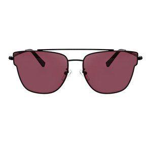 Bree Flat Lens Butterfly Aviator Sunglasses